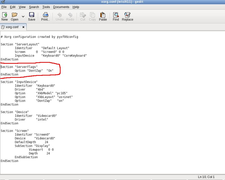 Disabling the display (X Server) restart with ctrl-alt-bksp