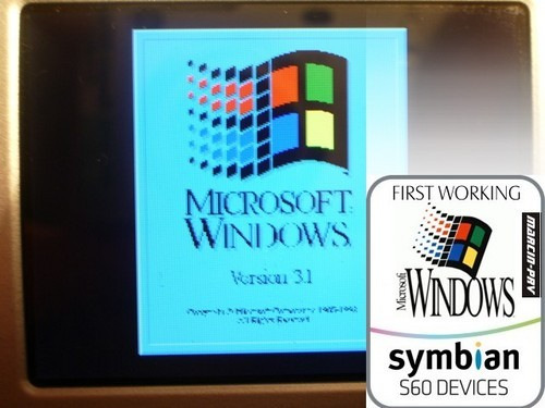 MS Windows 3.1 running on N95 (Pic courtesy : www.frazpc.pl)