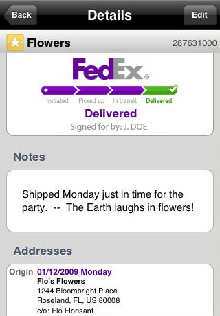 track your fedex shipment using iphone. Black Bedroom Furniture Sets. Home Design Ideas
