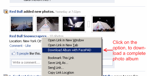 How to download a facebook album using facepad? - digitizor