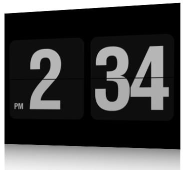 Screensaver software to use your Netbook as a table clock