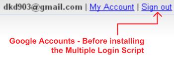 gmail before installing multiple google account login script