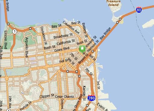City map to reach Moscon Centre
