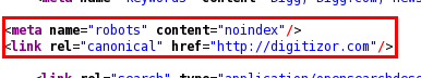 Source Code of the DiggBar enabled page which shows the special tags