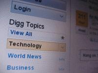 Digg website Photo - Courtesy: Gawker Media